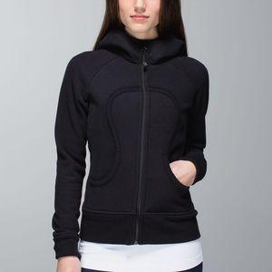 Lululemon💕Black Fuschia Scuba Hoodie Jacket Black